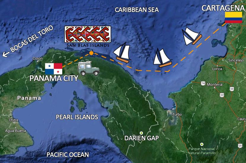 map-san-blas-islands
